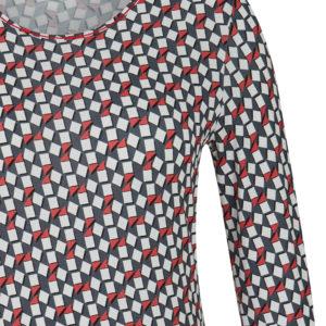 Rabe T-Shirt mit geometrischem Druck