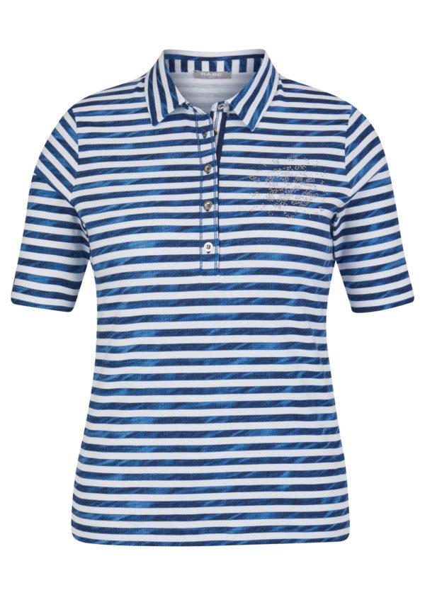 Poloshirt von Rabe Moden in Ringel aus Baumwolle Mode Sabine Lemke Winnenden