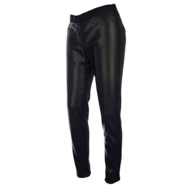 Veggie Lederimitathose in schwarz Art. 027609 von Kenny S mit Stretch und schmalem Schnitt bei Mode Sabine Lemke Damenhose in Winnenden und im Onlineshop