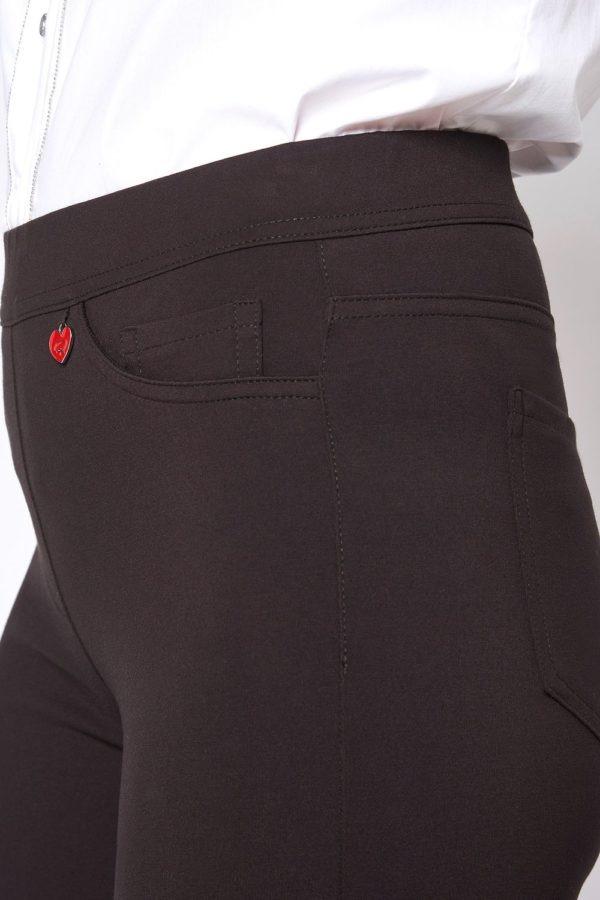 Damenhose in Jerseyqualität in Dunkelbraun von Relaxed by Toni Dress Artikel Alice 61-68 shoppen bei Mode Sabine Lemke in Winnenden oder im Onlineshop
